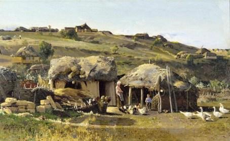 Nikolai Nikanorovich Dubovskoy - Village sur le Don - 1887