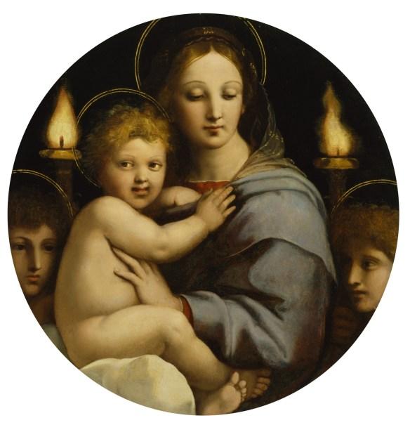Raphaël (Raffaello Sanzio) - La vierge aux candélabres (1513 - 65 cm de diamètre)