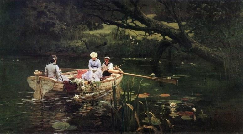 Vasili Dimitrievich Polenov (1844 - 1927) - Barque à Abramtsevo