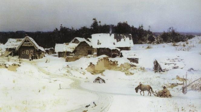 Vasili Dimitrievich Polenov (1844 - 1927) - Hiver à Imochentsy - 1880