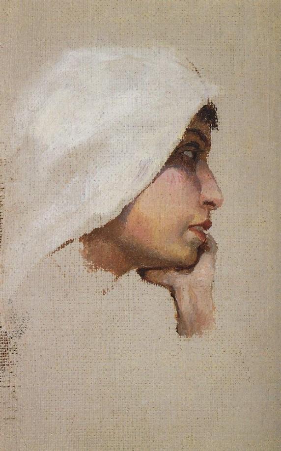 Vasili Dimitrievich Polenov (1844 - 1927) - Jeune femme au voile blanc -1885