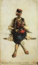 Vasili Dimitrievich Polenov (1844 - 1927) - Monténégrin - 1876