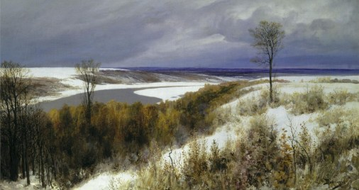 Vasili Dimitrievich Polenov (1844 - 1927) - Premières neiges - 1891