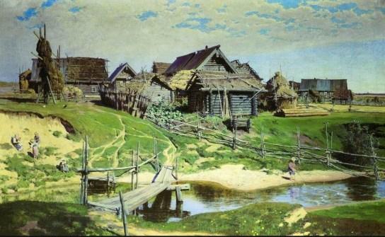 Vasili Dimitrievich Polenov (1844 - 1927) - Village russe - 1886