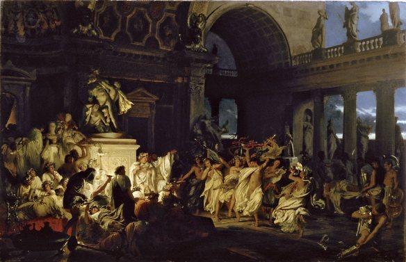 Henryk Siemiradzki - Orgie Romaine au temps de César (1872) - Musée Russe de Saint-Pétersbourg