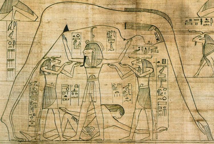 Détail du Papyrus de Greenfield ou Livre des Morts de Nésitanebtashérou du British Museum