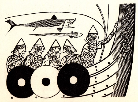 Beowulf (1) - illustration par Severin - 1954