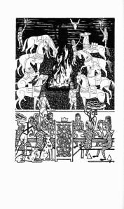Beowulf (10) - illustration par Severin - 1954