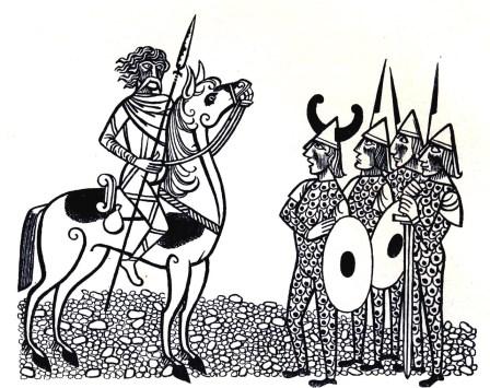 Beowulf (4) - illustration par Severin - 1954
