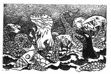 Beowulf (9) - illustration par Severin - 1954