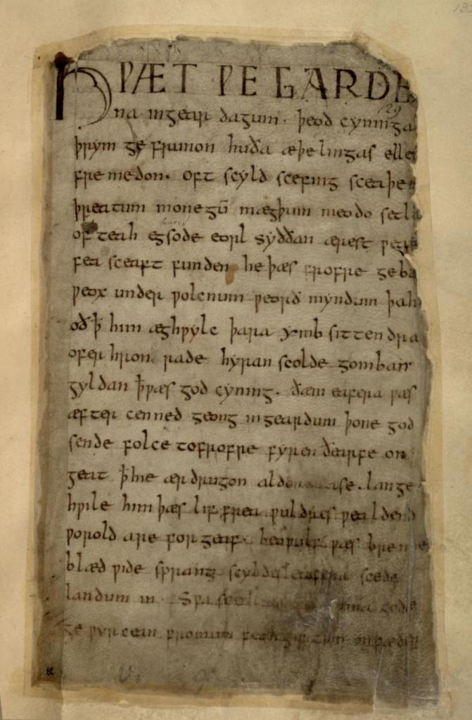 Beowulf first page