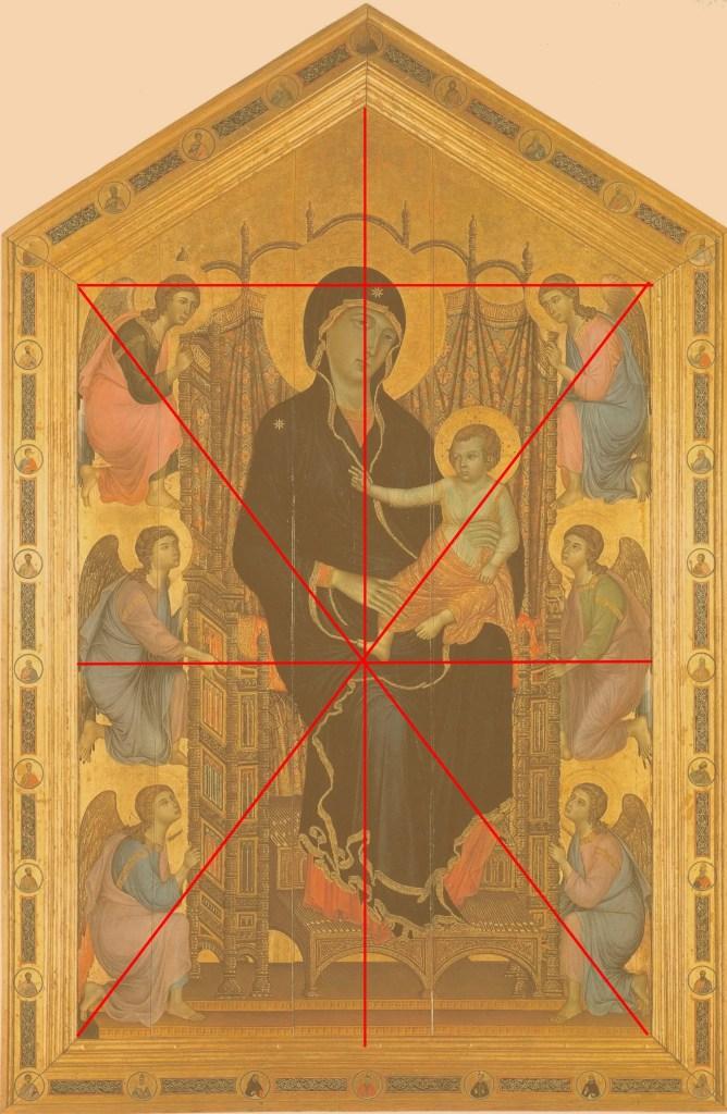 Composition - Duccio di Buoninsegna -  Madonne Rucellai - 1285 -  Galleria degli Uffizi - Florence