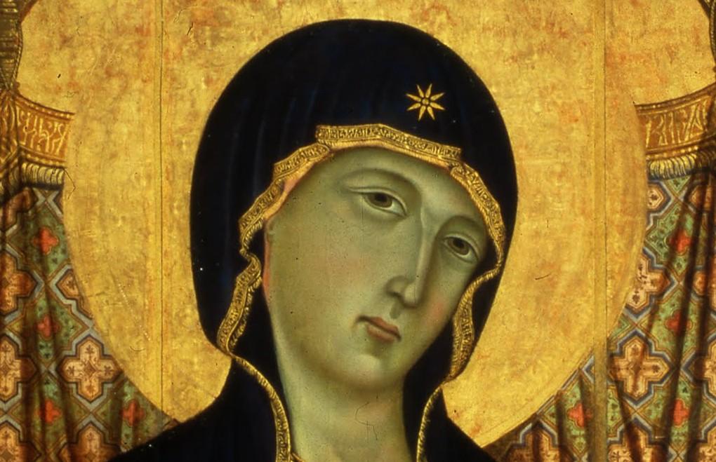 Détail visage - Duccio di Buoninsegna -  Madonne Rucellai - 1285 -  Galleria degli Uffizi - Florence