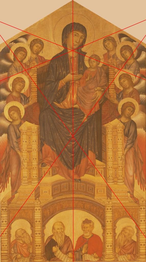 Maestà di Santa Trinita - Cimabue - 1280-90 - Galleria degli Uffizi - Florence - Composition