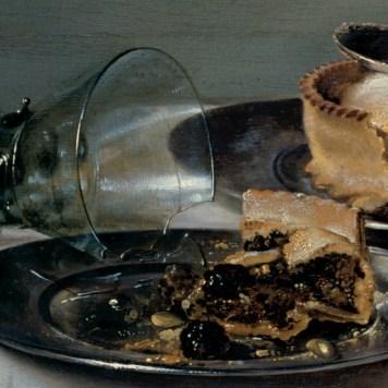 Willem Claeszoon Heda - Nature morte à la tourte aux mûres (détail tourte et verre cassé) - 1631 - 54x82cm - Gemäldegalerie Alte Meister - Dresde