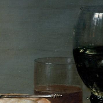 Willem Claeszoon Heda - Nature morte à la tourte aux mûres (détail verre et cuiller) - 1631 - 54x82cm - Gemäldegalerie Alte Meister - Dresde