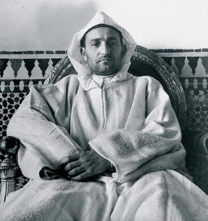 Le sultan chérifien Mohammed V du Maroc