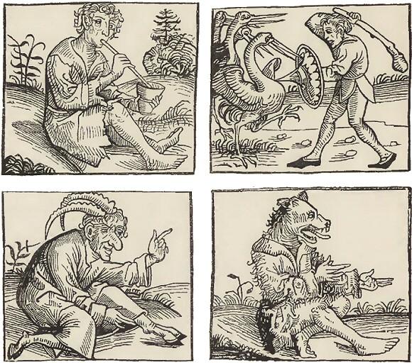 Monstres nés du Déluge, Chroniques de Nuremberg, 1493