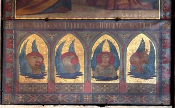 Bustes des évangélistes, vision du Tétramorphe, partie inférieure de la peinture de Galimard, 1846. Fortin, Philippe