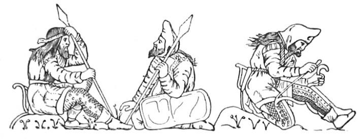 Dessin - Trésor de Kul-Oba, vase en électrum – Musée de l'Ermitage – Saint-Petersbourg