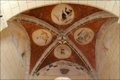 Peintures de la voûte du choeur - Saint-André de Carabaisse - Lamothe d'Anthé