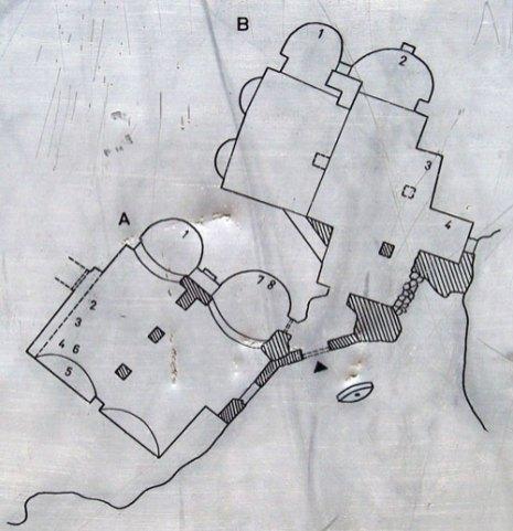 Plan des églises de Tatlarin