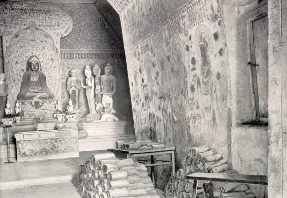 Dunhuang - Grottes de Mogao - Photo Aurel Stein - 1921