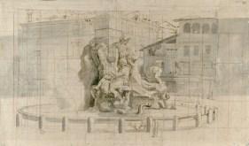 Gaspar Vanvitelli - La fontana dei Fiumi a Piazza Navona