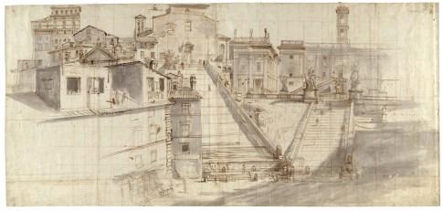 Gaspar Vanvitelli - Veduta del Campidoglio e dell'Aracoeli