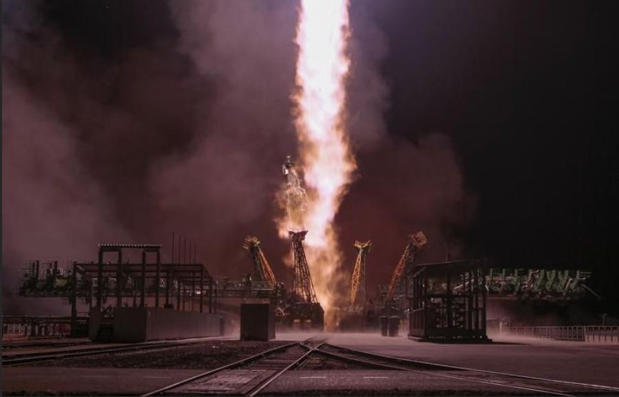 Fusée Soyouz TMA-15M à Baïkonour - 24 novembre 2014 - Photo © Shamil Zhumatov. Reuters