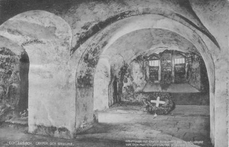 Echternach - Crypte de la basilique Saint Willibrord