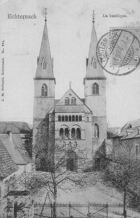 Echternach - Façade de la basilique Saint Willibrord