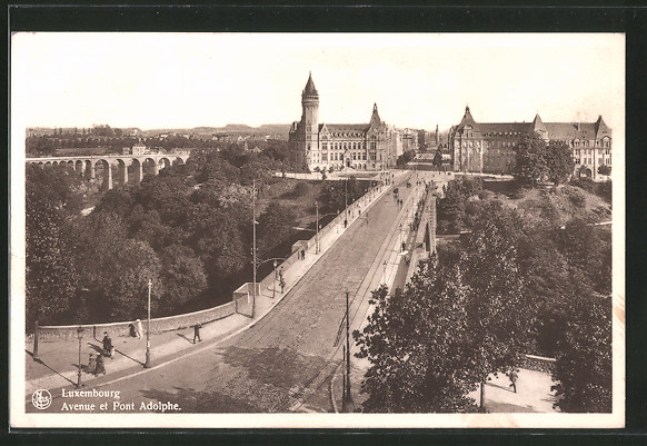 Luxembourg - Avenue et Pont Adolphe