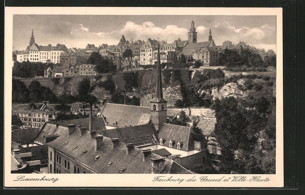 Luxembourg - Faubourg du Grund et Ville-Haute