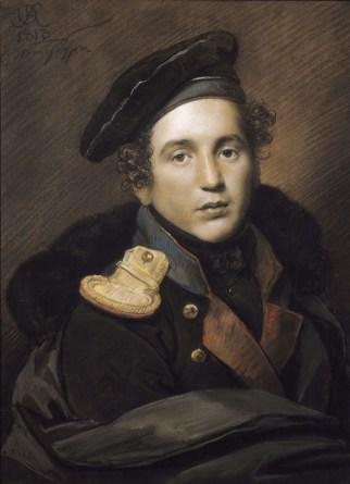 Orest Adamovich Kiprensky - Portrait de Pyotr Olenin - 1813