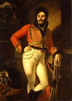 Orest Adamovich Kiprensky - Portrait du Colonel Yevgraf Davydov - 1812