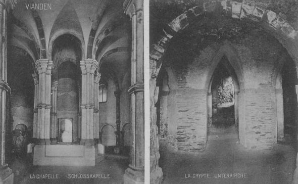 Château de Vianden (Luxembourg) - Crypte et chapelle