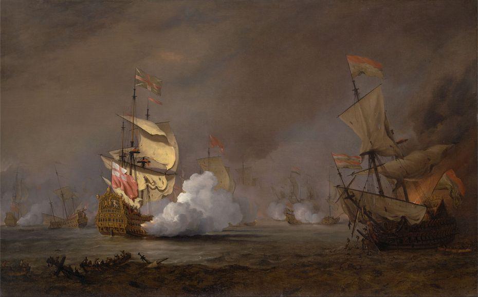 Willem van de Velde le Jeune - Bataille navale de la guerre anglo-hollandaise