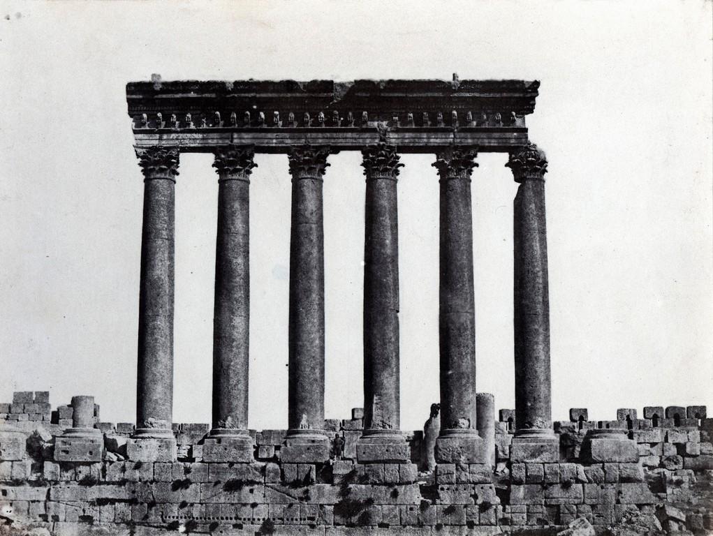 Maxime du Camp - Syrie, Baalbek Colonnade du Temple du Soleil, 1850