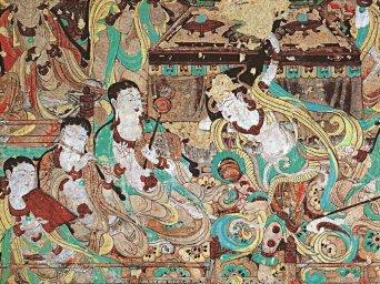 Fresque des grottes de Mogao