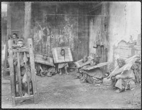 Auguste François - Suppliciés en cage et à la cangue à Yunnanfu