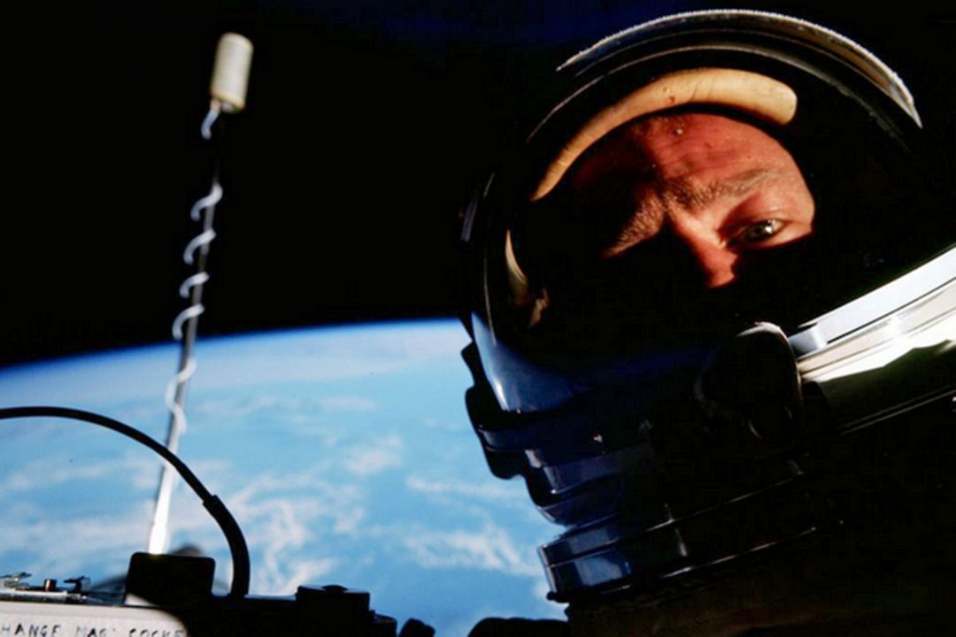 Buzz Aldrin on the Gemini 12 mission in 1966