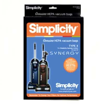 "Simplicity Synergy Type ""X"" HEPA Bags"