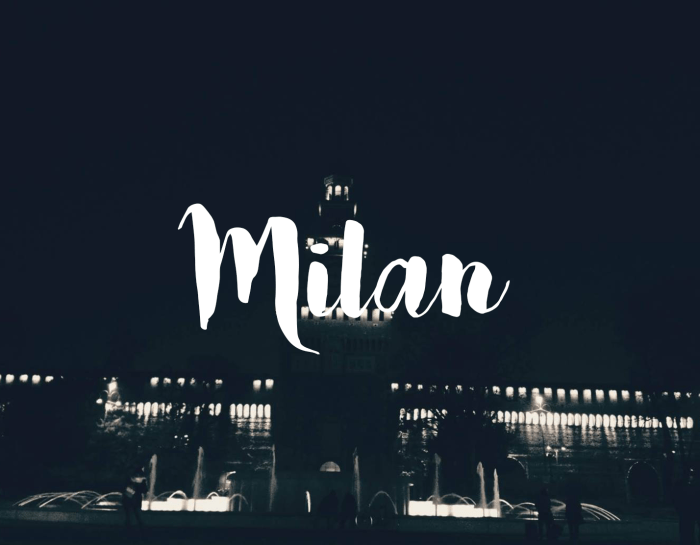 Milan, the Fashion Capitol