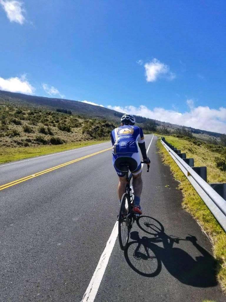 Cycling in Haleakalā National Park in Maui, Hawaii