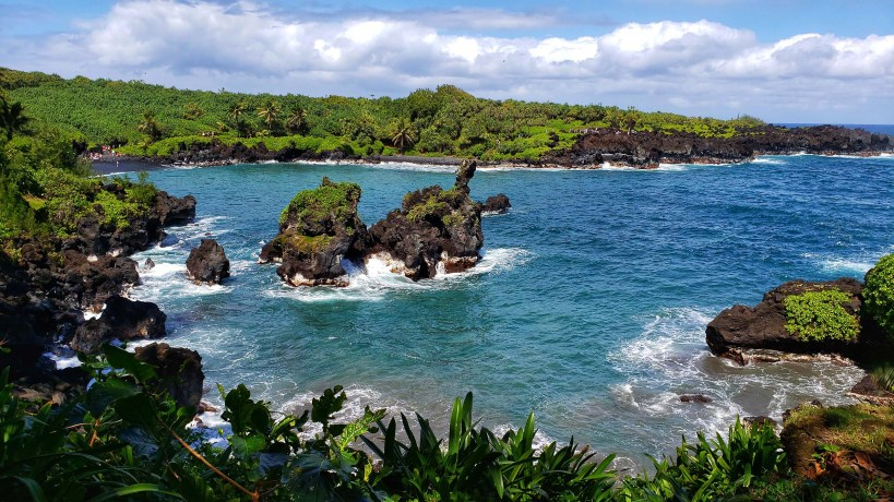 Wai'ānapanapa State Park in Maui, Hawaii