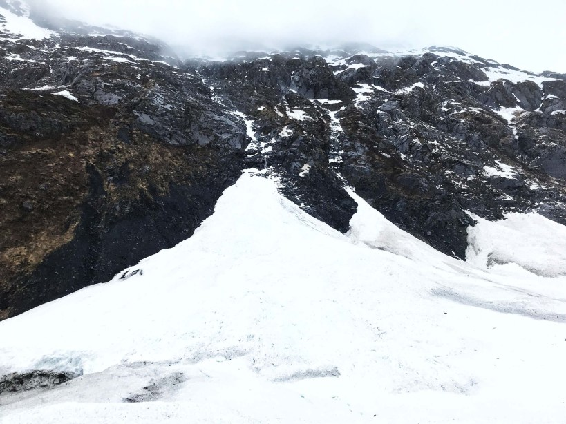 Byron Glacier on Portage Glacier Road in Girdwood, Alaska