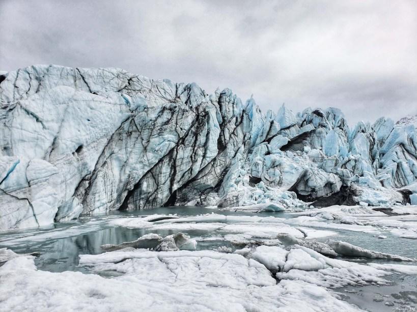 Matanushka glacier between Glenallen and Anchorage, Alaska