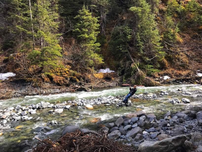 Glacier Creek in Iditarod National Historic Trail Girdwood, Alaska