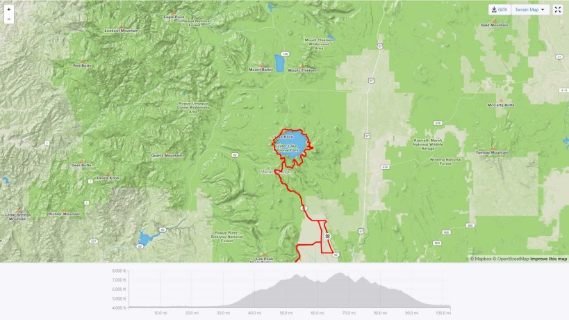 Crater Lake Full Century